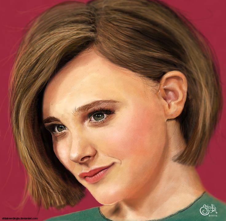 chloe-moretz painting --- photoshop + tablet
