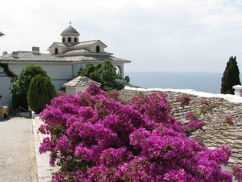 THE ARCHANGELOU MONASTERY. THASSOS. GREECE.