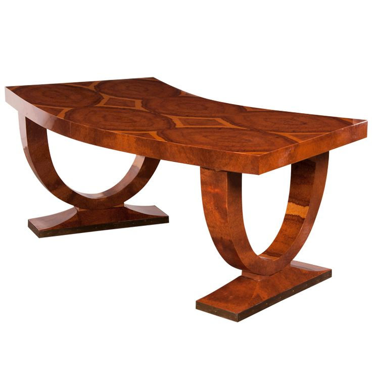 Art Deco Walnut Ruhlmann style Writing Table from France C.1930 | From a unique collection of antique and modern desks and writing tables at http://www.1stdibs.com/furniture/tables/desks-writing-tables/
