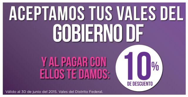Aceptamos tus vales del Gobierno DF y te damos 10% de descuento, en Suburbia.  #PromoMap #Promo #Moda