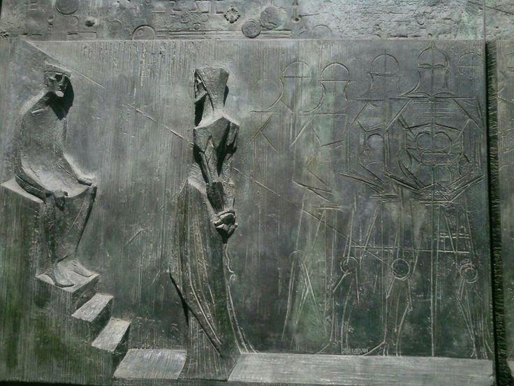 Stone engraving at Sagrada Familia