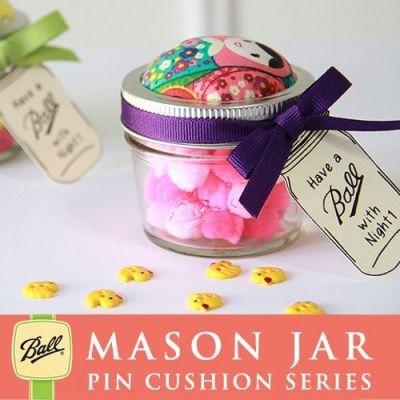 画像1: メイソンジャー ミニ ピンクッション限定版 Ball Mason jar