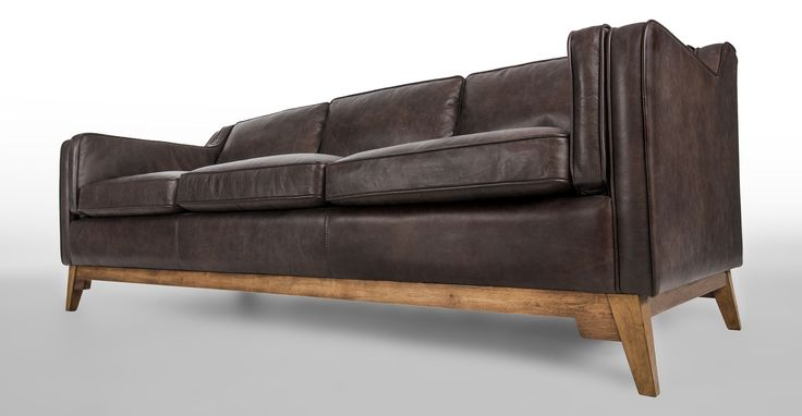 Love this Couch!  Both Brian and I agree  Worthington Oxford Brown Sofa - Sofas - Article | Modern, Mid-Century and Scandinavian Furniture