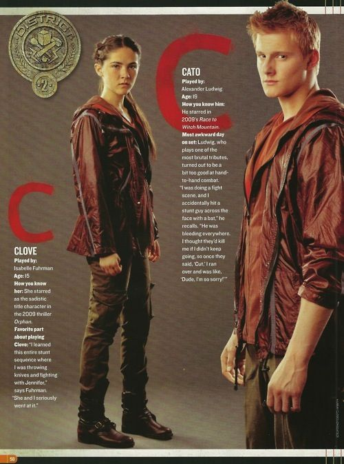 The hunger games | cato and clove | clato| alexander ...