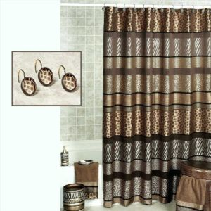 Purple And Black Zebra Print Shower Curtain