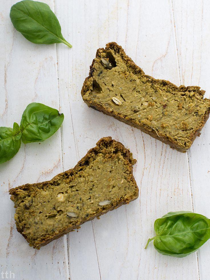 Pasztet z zielonego groszku, pestek dyni i bazylii weganskie, bezglutenowe