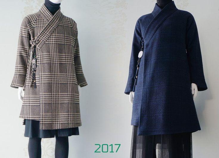 2015~2017 체크 패턴 & 한복 코트 [천의소창의] [천의장유] 2017 오늘 보여드릴 옷은 타탄체크 천의무...