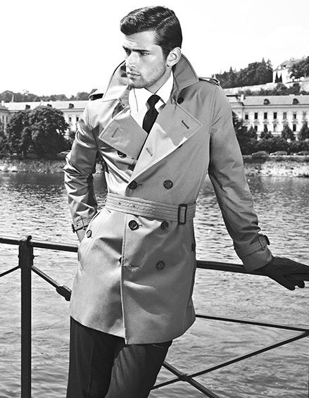 Sean O'Pry in Burberry