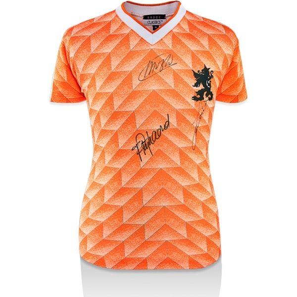 Marco Van Basten, Ruud Gullit and Frank Rijkaard Signed UEFA 1988 Netherlands Home Jersey