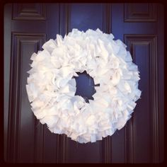 Tutorial  – Ruffly Door Wreath  Materials needed:   Rotary Cutter (you definitely do not want to use scissors, for your hand's sake)  Ruler  Self Healing Cutting Mat  Wire Wreath Form  3-5 yards of fabric (smaller wreath form, 3 yards.  Bigger wreath form, 5 yards)