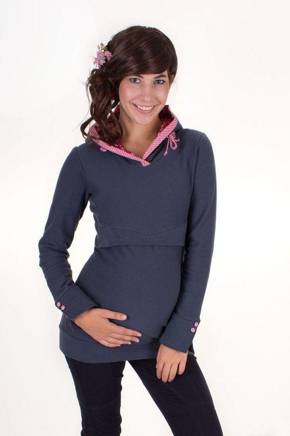 Maternity jumper / breastfeeding jumper / by VivalaMamaBerlin