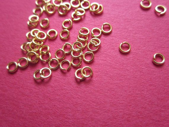 3mm Jump #Ring Gold Plated http://etsy.me/1IfkR7i #jewelry #brass #jewel #gem #setting #goldplated #gold #24k