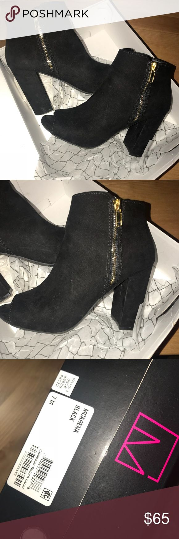 Material Girl open toed blocked heels SIZE 7 Mint condition black open toes block heels. I wore maybe 4 times max. Perfect for any occasions Material Girl Shoes Ankle Boots & Booties