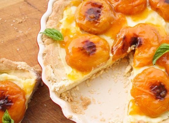 Apricot and Basil Shortbread Tart Stunning!!!!