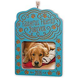 Hallmark Keepsake Ornament 2016 Loss of a pet Faithful Friend Forever