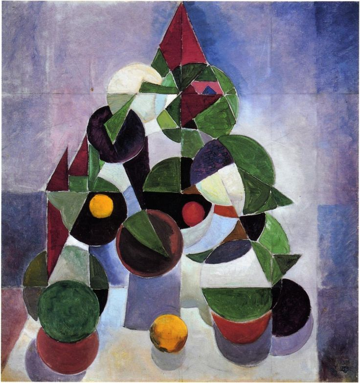 Theo van Doesburg (Dutch, 1883-1931), Composition I (Still Life), 1916. Oil on canvas. Kröller-Müller Museum, Otterlo.