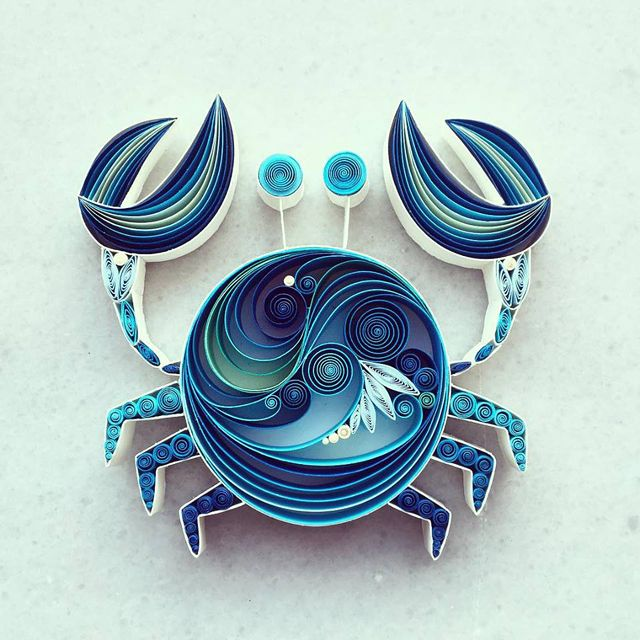 Colorful Quilled Paper Art by Sena Runa