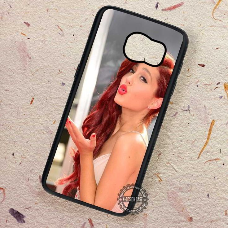 Ariana Grande Kiss Bye Red Lips - Samsung Galaxy S7 S6 S5 Note 7 Cases & Covers