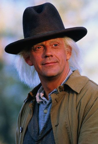 Doc Emmett Hbrown - Christopher Lloyd in ' Back to the Future' films.