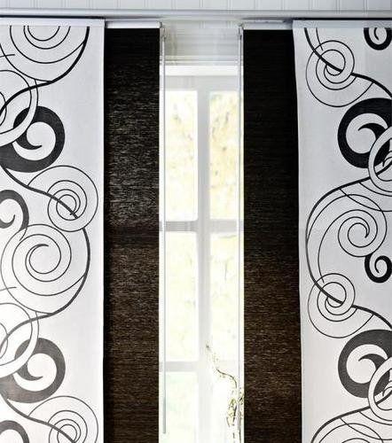 Ikea Anno Vacker Panel Curtain Room Divider Window Panel Curtain White Swirls Kvartal By Ikea