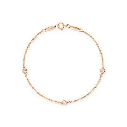 Tiffany & Co. -  エルサ・ペレッティ™ ダイヤモンド バイ ザ ヤード™ ブレスレット 18Kローズゴールド