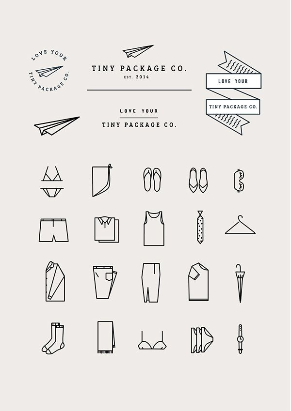 Love this whole brand. Tiny Package Co. by Emily Gwynne, via Behance