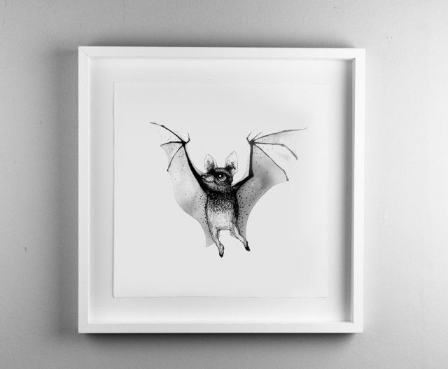 Fladdermus by Tvinkla #nordicdesigncollective #tvinkla #bat #animal #halloween #scary #vampire #spooky #night #frame