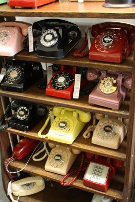 even if i never have a landline in my home, i will still have old fashioned telephones sitting on desks and hanging on the kitchen wall.