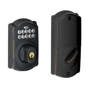 Schlage BE369NX CAM 716 Home Keypad Deadbolt with Nexia Home Intelligence, Aged Bronze (Z-Wave) by Schlage Lock Company. $193.44. Amazon.com                 Secure your home with this Schlage keypad deadbolt featuring Nexia Home Intelligence (model BE369NX), and stop worrying about losing keys, being locked out, or having to hide a spare. With the simplified home automation features of Nexia Home Intelligence, you can control the security of your home even when you'r...
