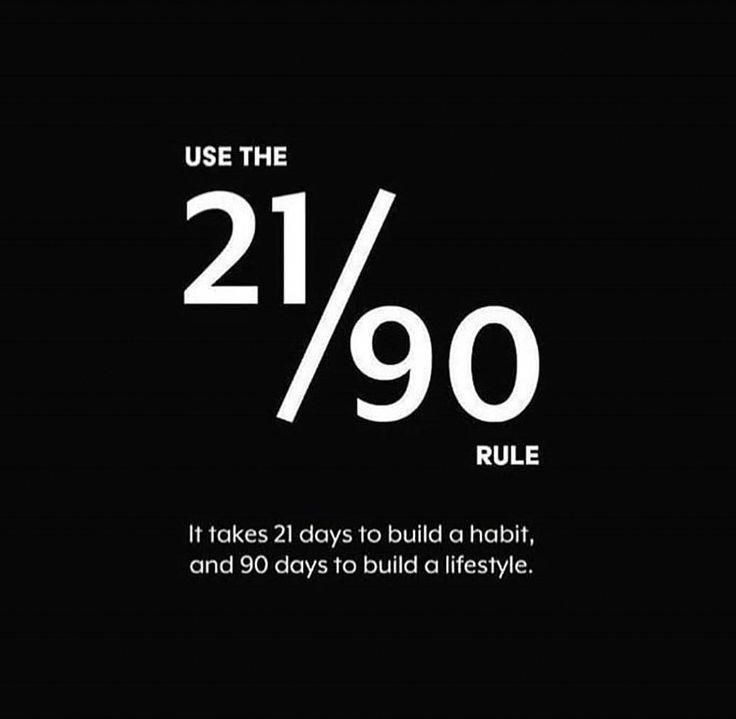 The 21/90 rule | Quotes for life | quotes about li…
