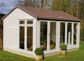 Apex Garden Office 405 Painted Double Glazed Insulated