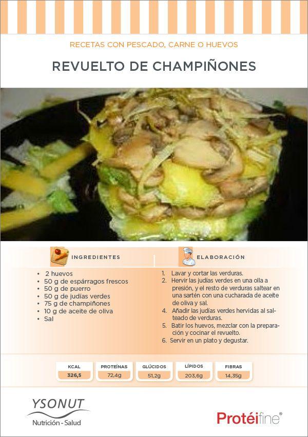 #Recetas #dieta - Hoy Revuelto de Champiñones ¡Empecemos el mes de octubre trayendo el otoño a nuestros platos!