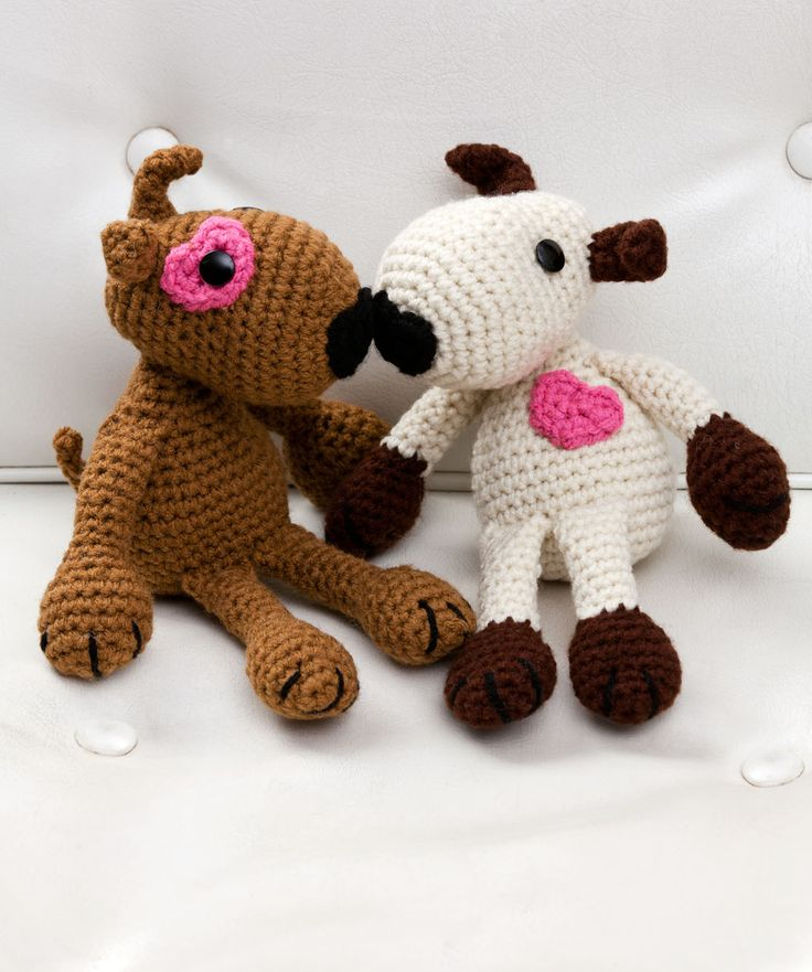 Red Heart Yarn Amigurumi Patterns : #crochet, free pattern, Puppy Love, dog, stuffed toy, # ...