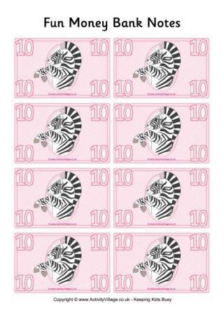 Fun Money Banknotes 10