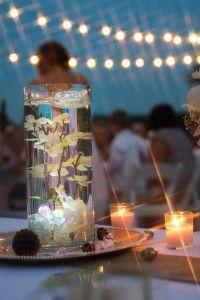 lighted wedding centerpiece