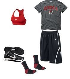 Cute basketball outfit.