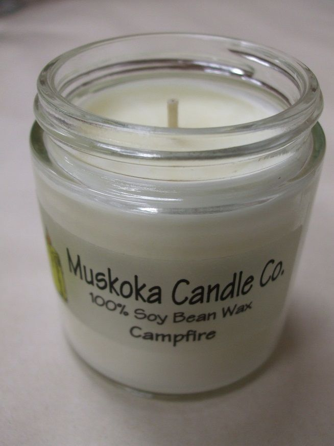 Too wet or dry for a campfire?  This may be the next best thing!  Soy candles are clean burning, and this really smells like a campfire.