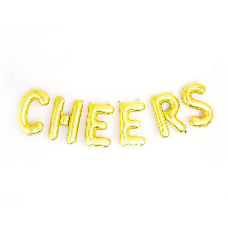 These balloons are so cute! They spell out the word cheers! It would be great for party or the holidays!