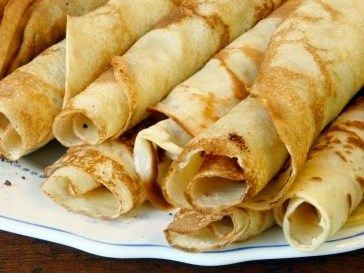 Gluten free crepes: 2 eggs  2 tbsp milk or water  1 tsp vanilla  1/2 cup tapioca flour    Directions  Beat eggs with fork. Beat in water, vanilla and tapioca flour. Batter will appear very liquidy. Let sit for 5 minutes.  Cook over medium high heat on a crepe pan or low-sided skillet brushed with oil. #pancake #tapiocaflour #Paleo