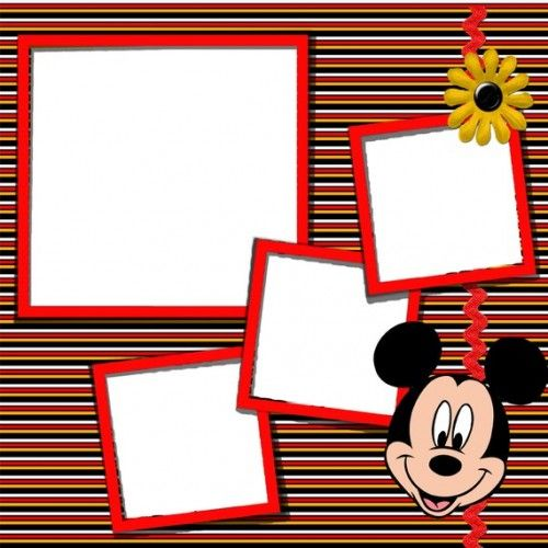 mickey mouse scrapbook | Mickey Mouse Digital Scrapbook KIT