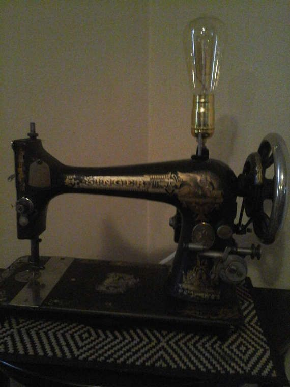 1901-1903 Singer Sewing Machine Table Lamp Steampunk Inspired