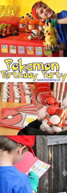 This Pokemon birthday party is the CUTEST! Fun ideas for Pokemon themed games, decorations, food, and party favors! A little Pokemon lover's dream party!
