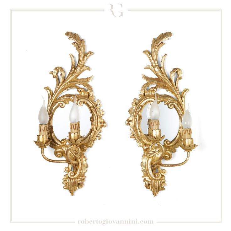 art. 519 2 lights sconce with little mirror English