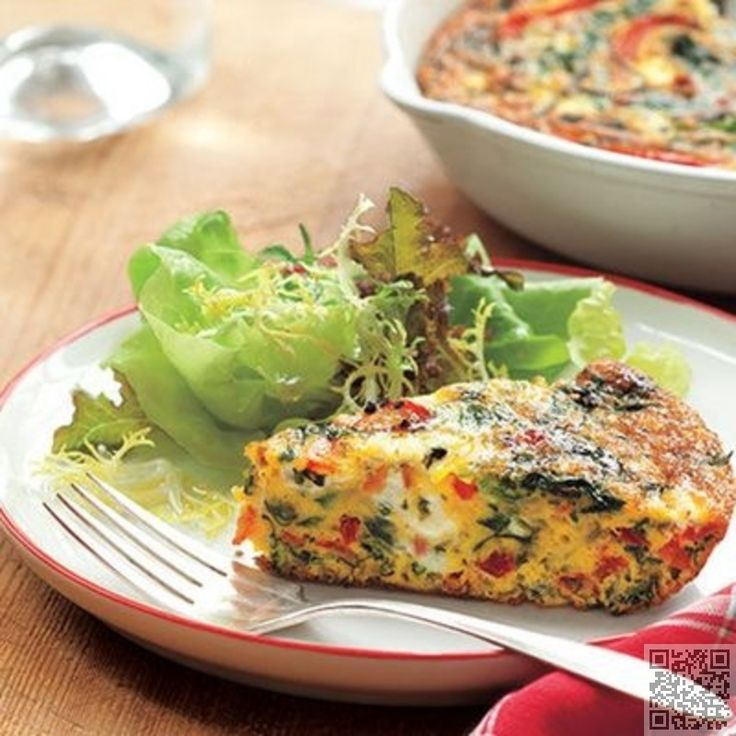 24. #Crustless Quiche - Rise and #Shine: Here Are 32 Reasons to Get up and Have Eggs for #Breakfast ... → Food #Yogurt