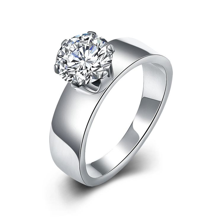 New Design Fashion Diamond Titanium Steel Lady Ring