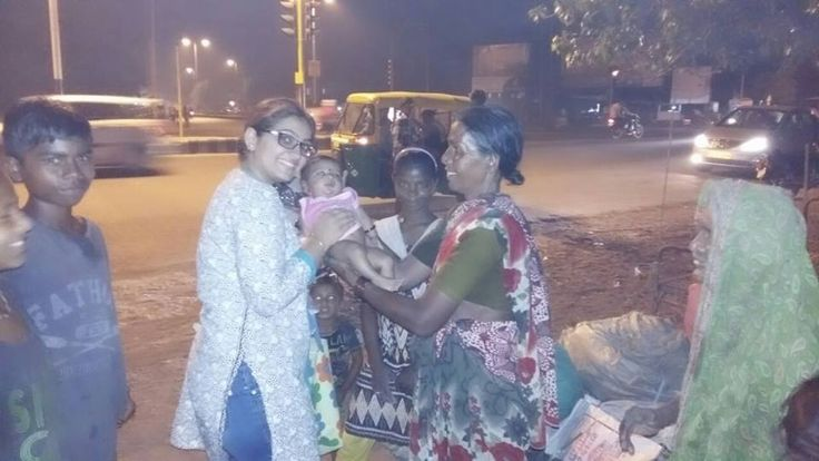 Different people celebrate thier happiness in different way... I chose to share mie happiness wid these people.. Today Amrita didi n I went to areas near GIDC n shared biscuits with these cute little children.. the happiness n joy which I got made me speechless.