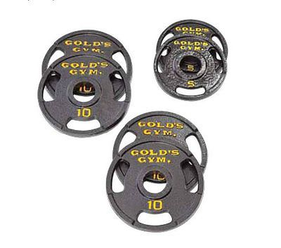 Gold's Gym Weight Plate Set 50 lbs Olympic Home Training Barbell Gym Workout New - http://sports.goshoppins.com/exercise-fitness-equipment/golds-gym-weight-plate-set-50-lbs-olympic-home-training-barbell-gym-workout-new/