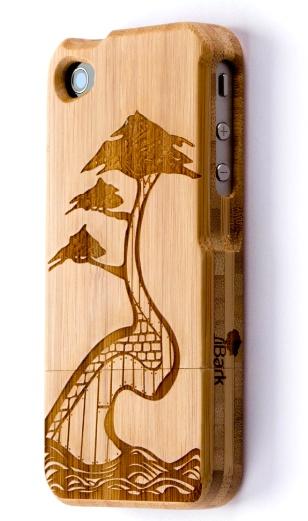 'Bonsai Kingdom' Laser Engraved Bamboo iPhone Case