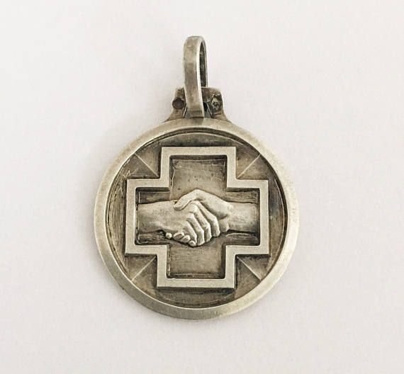 Antique French Group Sanguin B RH  Medal