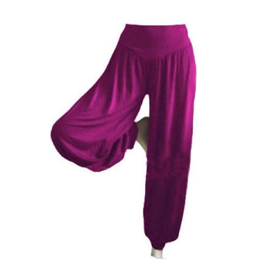 Purple Harem Yoga Pants Harem Pants Belly by RythmFashionStore